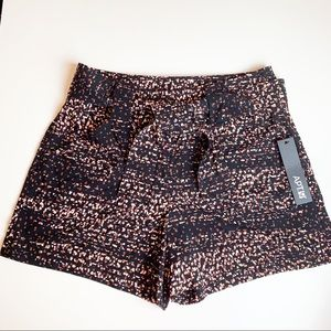 NWT APT.9 Black Shorts with abstract print Size 10